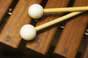 xylophone and mallets